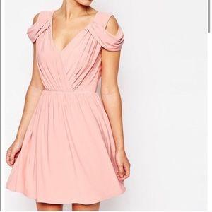ASOS blush pink dress